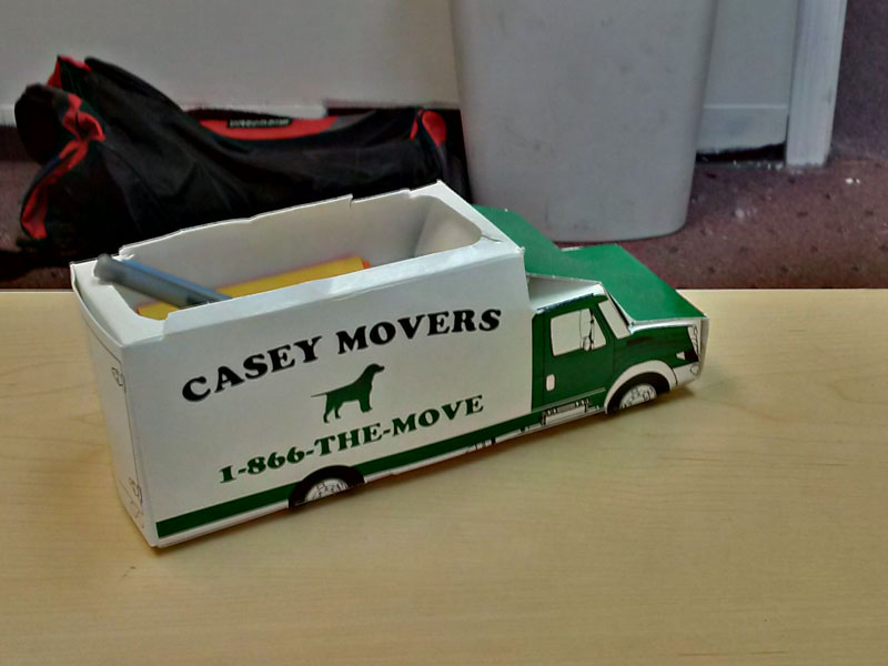 A Casey Movers Toy Truck