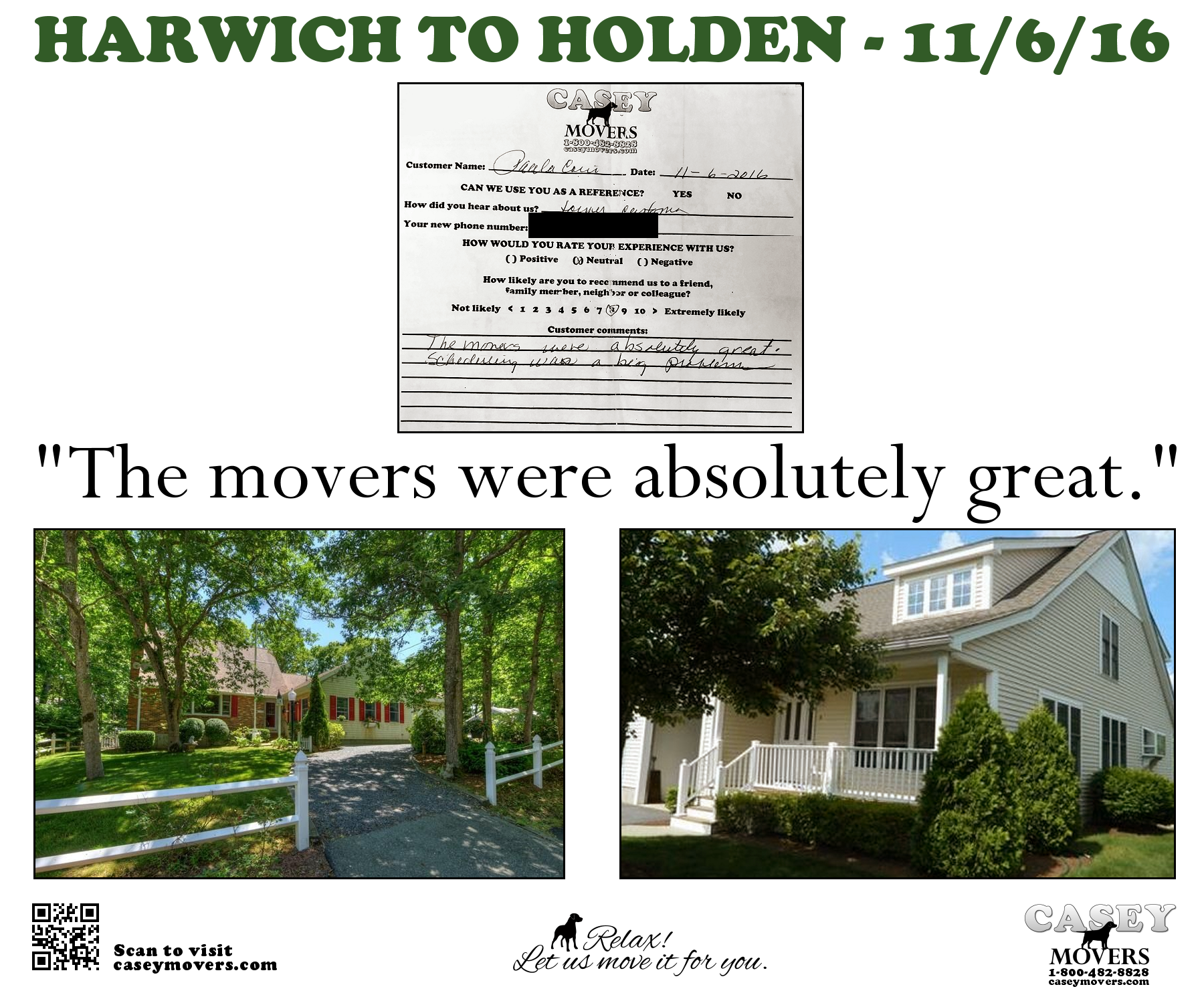 Moving Company Reviews >> Harwich, MA Reviews | Casey Movers