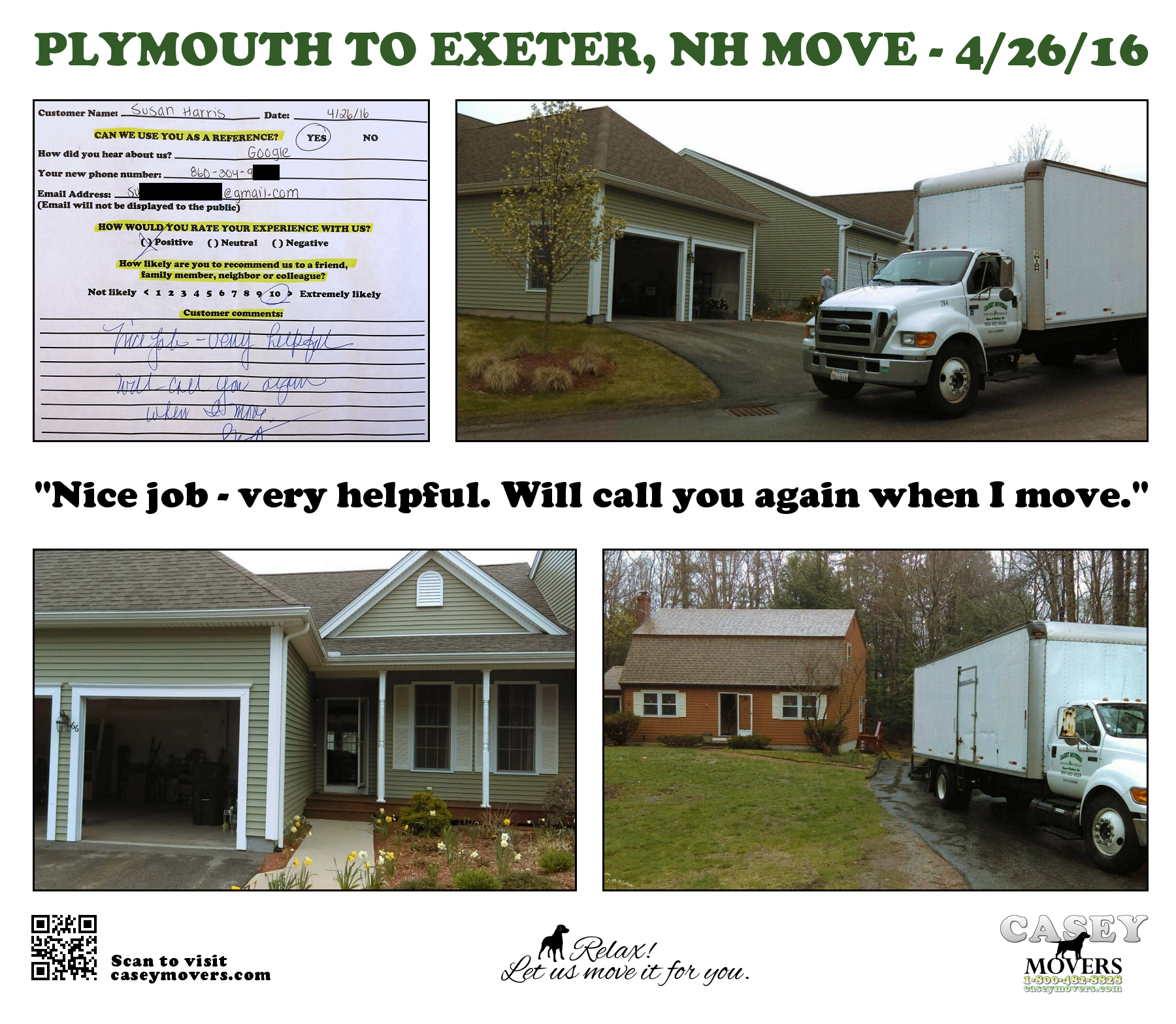 Moving Company Reviews >> Plymouth, MA Reviews | Casey Movers