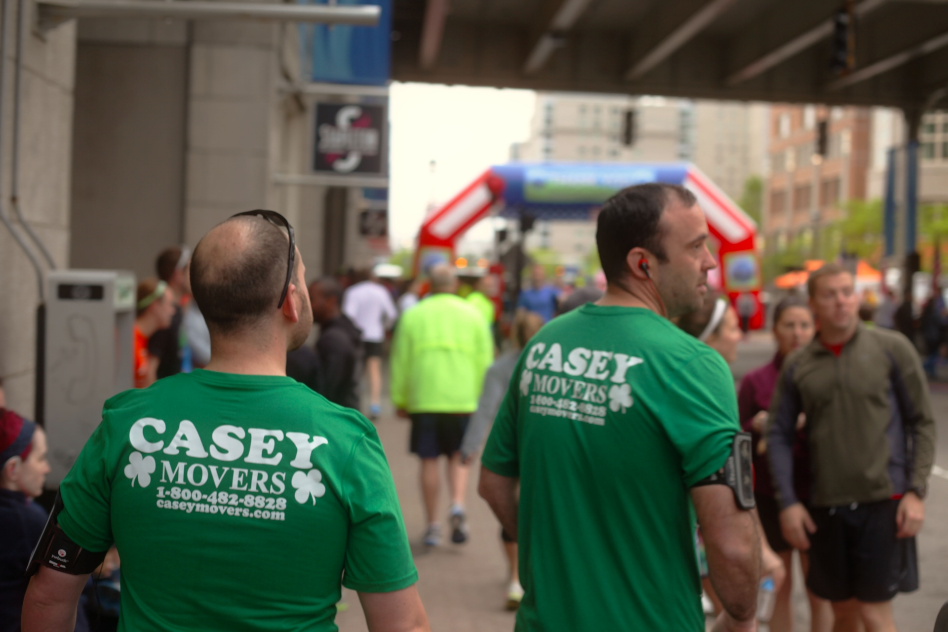 Casey Movers Running Team at Bostons Run to Remember 2014